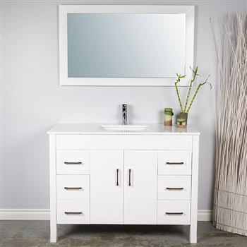 Modern Bathroom Vanities Port Moody 48 bathroom vanity with top mount sink - modernbathrooms.ca