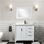 37 inch white bathroom vanity