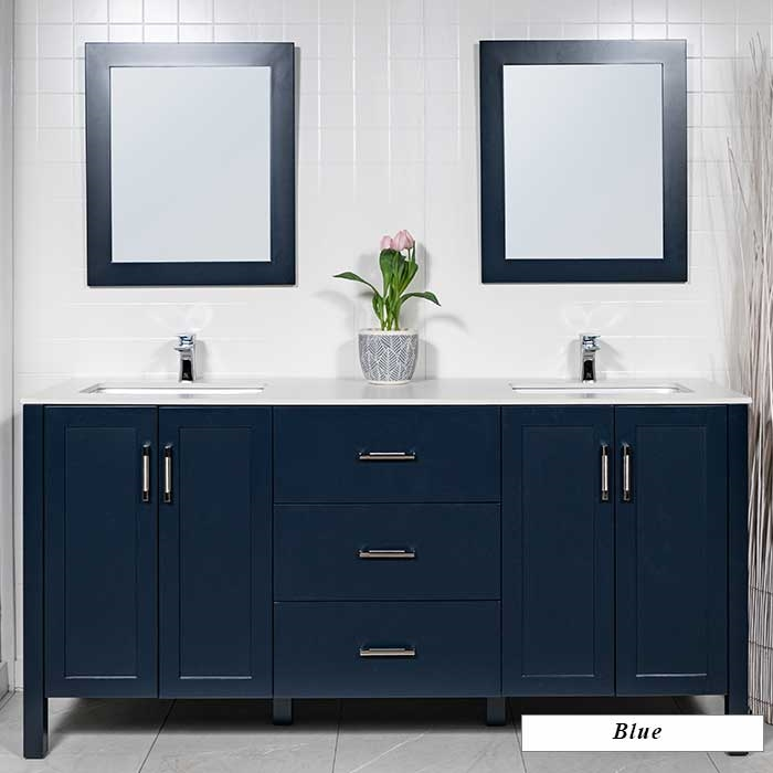 Modern Bathroom Vanities Port Moody large 72 inch double sink bathroom vanity | modernbathrooms.ca