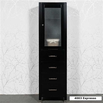 Linen Cabinets - large wall hung linen cabinet with drawers and ...
