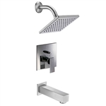 Shower and Tub Set brushed nickel