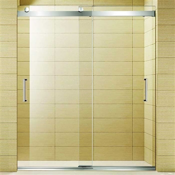Dual sliding shower doors