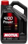 MOTUL 15W50 4100 POWER 5L Jug (1.3 gal)