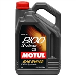 MOTUL 8100 X-CLEAN 5W40 1L Bottle (1.05 qt)