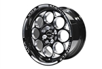 "FRONT OR REAR DRAG RACE MODULO WHEEL 15X8 4X100 / 4X108 20 OFFSET (5 1/4 "" BACKSPACING) GREAT FOR FORD FOX BODY MUSTANG, FOCUS, ESCORT & FIESTA BLACK MILLING FINISH // PART # VWMO007"