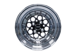 VMS Wheels Revolver 15X8 4X100/114.3 20 ET 73.1 CB Black Milling Polished Lip Chrome Rivets