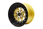 FRONT DRAG RACE REVOLVER WHEEL 13X8 4X100/ 4X114 20 OFFSET GREAT FOR HONDA CIVIC CRX ACURA INTEGRA AVAILABLE IN  GOLD MILLING // PART # VWRE005