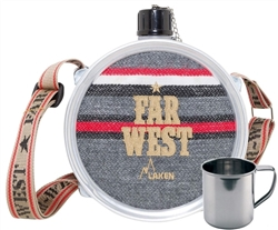 Laken Bundle - Aluminum Far West Canteen with Shoulder Strap, 51 oz + Stainless Steel Mug