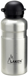 Hit Water Bottle Wide Mouth with Hit Sport Drinking Cap 20oz Silver/Plain