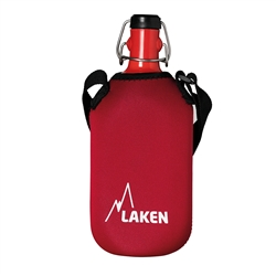Cuadrada Water Canteen 34oz (1L) Red with Neoprene cover