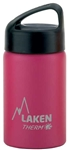 Laken Classic Thermo Vacuum Insulated Stainless Steel Water Bottle Wide Mouth with Loop Cap 12oz - Fuchsia
