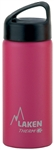 Laken Classic Thermo Vacuum Insulated Stainless Steel Water Bottle Wide Mouth with Loop Cap 17oz - Fuchsia