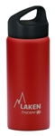 Laken Classic Thermo Vacuum Insulated Stainless Steel Water Bottle Wide Mouth with Loop Cap 17oz - Red