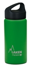 Laken Classic Thermo Vacuum Insulated Stainless Steel Water Bottle Wide Mouth with Loop Cap 17oz - Green