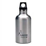 Laken Futura Thermo Vacuum Insulated Stainless Steel Water Bottle Narrow Mouth with Loop Cap 12oz Plain