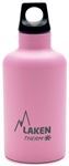 Laken Futura Thermo Vacuum Insulated Stainless Steel Water Bottle Narrow Mouth with Loop Cap 12oz Pink