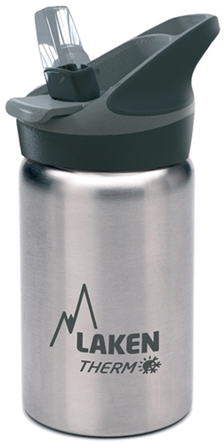 Laken Thermo Jannu Insulated Stainless Steel Kids Water Bottle Wide Mouth wit...