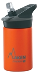 Laken Thermo Jannu Vacuum Insulated Stainless Steel Water Bottle Wide Mouth with Straw Cap 12oz Orange