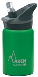 Laken Thermo Jannu Vacuum Insulated Stainless Steel Water Bottle Wide Mouth with Straw Cap 12oz Green