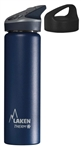 Insulated Bottle a Jannu Straw Cap + a Classic Cap, 25 oz, Blue