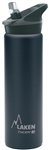 Laken Thermo Jannu Vacuum Insulated Stainless Steel Water Bottle Wide Mouth with Straw Cap 25oz Black