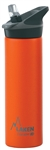 Laken Thermo Jannu Vacuum Insulated Stainless Steel Water Bottle Wide Mouth with Straw Cap 25oz Orange