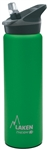 Laken Thermo Jannu Vacuum Insulated Stainless Steel Water Bottle Wide Mouth with Straw Cap 25oz Green