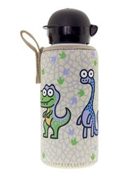 12 oz Aluminum Water Bottle with Leak-Proof Hit Sport Cap and Neoprene Cover, Katuki Saguyaki - Baby Flamenca