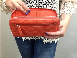 Elyse Zip Around Wallet Coral