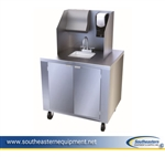 Dinex Mobile Hand Washing Station with San Jamar Accessories