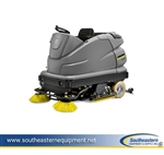 New Karcher B 250 R 48 in Cylindrical Ride-On Floor Scrubber
