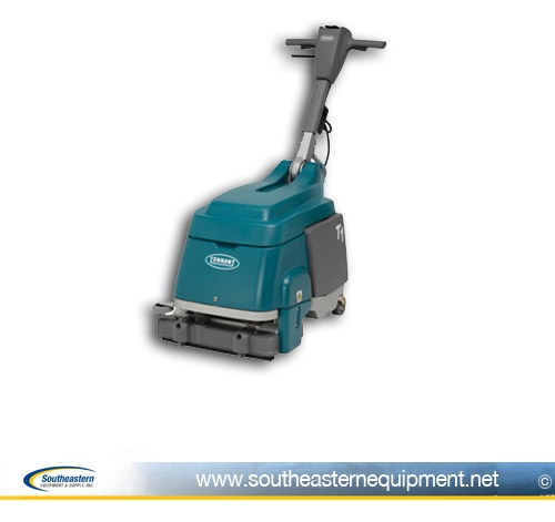 Tennant T Floor Scrubber Micro Floor Scrubber - How to use a floor scrubber machine