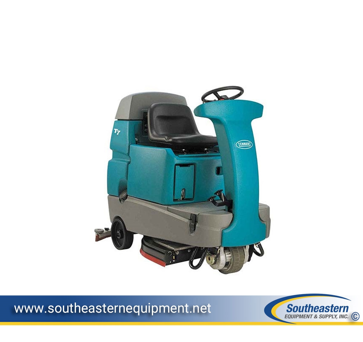 Beautiful Tennant T7 32 Inch Rider Floor Scrubber