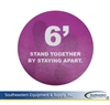"8 inch floor decal ""Stand together by..."" (purple/white)"