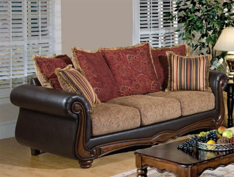 Sofa Loveseat Set 82402 Sl Weslynn Place Burgundy Furniture