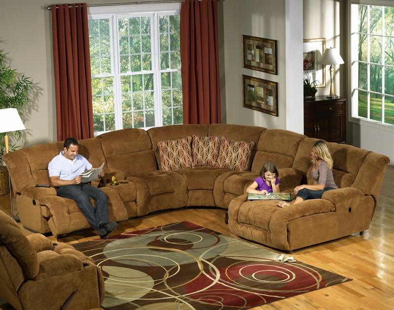 Enterprise 4 Piece Sectional With Storage And Cupholders