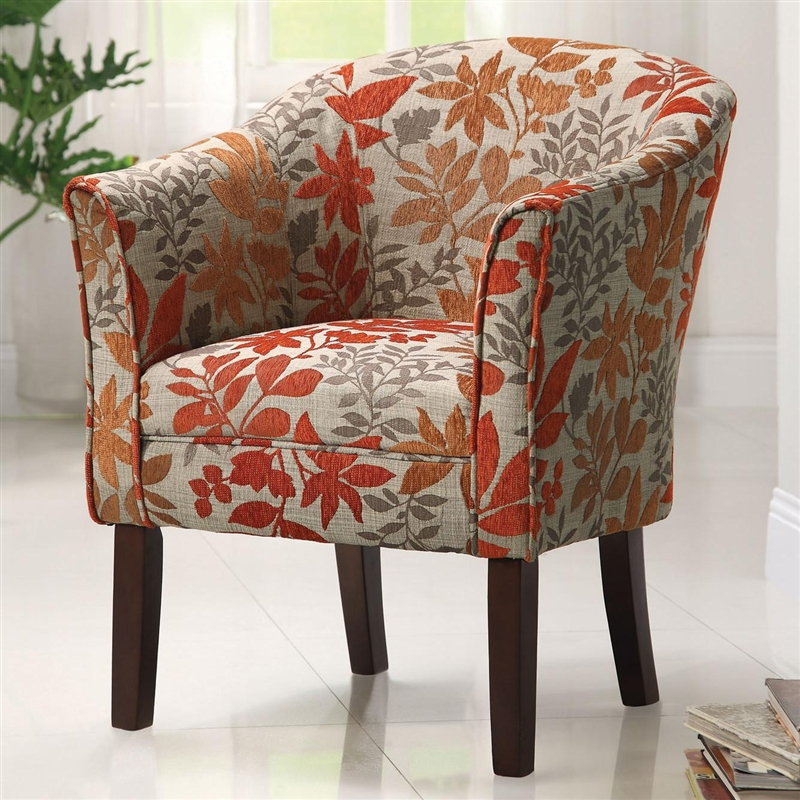 Accent Chair In Floral Pattern Fabric By Coaster