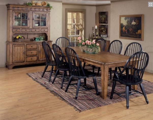 Black Country Style Kitchen Chairs