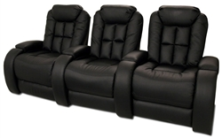 Almada Theater Seating - 3 Leather Chairs By SeatCraft 12027 - Power Recline