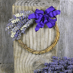Lavender Wreath - small
