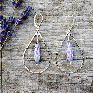 Lavender Teardrop Earrings