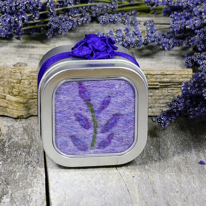Lavender Felted Soap - purple