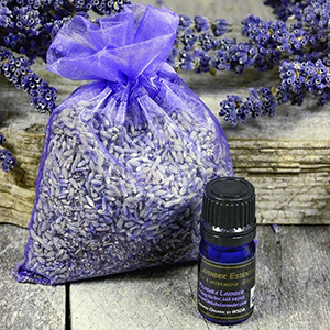 Organic Lavender Sachet with Organic Lavender Essential Oil