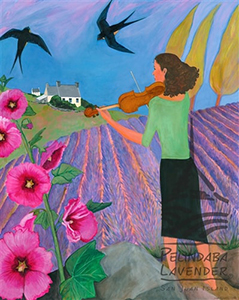 """Fiddle Over The Field"" - print Johnston"