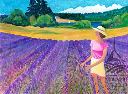 """Lavender Morning/Breeze"" - card Johnston"