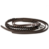 Hand Grip Braided Split Reins in BioThane Beta.  Available in all Beta colors. The Hand Grip in Black, Brown, Caramel Brown and two-tone combos.