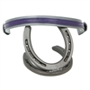 "BioThane Beta EZ Change Changeable Browbands for SpecTACKular Halter Bridles, Western Headstalls & Noseband Bridles. Horse Shoe Embossed Western Concho covered snap shown.  All hardware is Stainless Steel. 1"" wide. EZ Change or Changeable Browband."