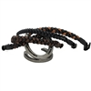 BioThane Beta EZ Change Changeable Braided Browbands for SpecTACKular Halter Bridles, Western Headstalls & Noseband Bridles. Horse Shoe Embossed Western Concho covered snap shown.  All hardware is Stainless Steel. EZ Change or Changeable Browband