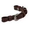 BioThane Beta Curb Strap with Western Embossed Stainless Steel Hardware