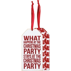 Christmas Party Bottle Tag